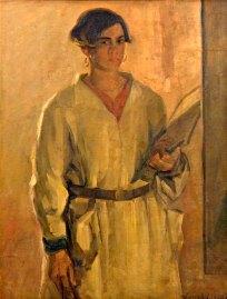 Luigi Varoli - Ritratto di Olga Settembrini (la pittrice) 1927, olio su tela, cm 99x75