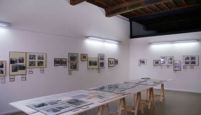 Allestimento della mostra fotografica Persone