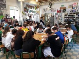 laboratorio di martoz alla scuola arti e mestieri / venerdì 9 mattina