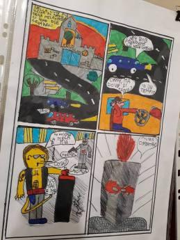 I fumetti fatti dai ragazzi nel laboratorio con Martoz