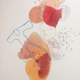 n.134 Barbara Fragogna, Details, 2020, inchiostri e matita colorata su carta 200 gr, 40x30 cm
