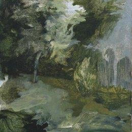 n.79, Alice, Faloretti, Camminando, 2018, olio su carta, 21 x 14,5 cm