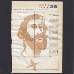 n.15 Collettivo Fx Santi e Ricette, S. Emilio Martire, caffè su agenda anni settanta, cm15x20
