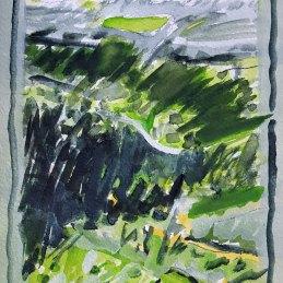 n.73, Alessandro Finocchiaro, Piedicolle, 2020, cm 21x30 matita e acquarello su carta