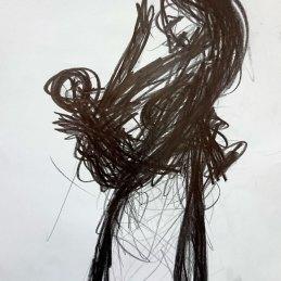 n.26 Giuliano Guatta Madre e figlio, 2017, grafite su carta, cm 33 x 24