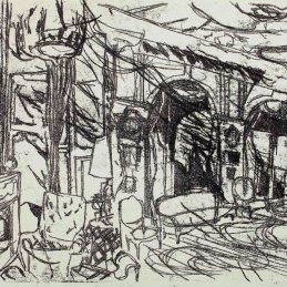 n.103 Federico Guerri Camera, 2018, inchiostro tipografico trasportato su carta, cm 36x50,5