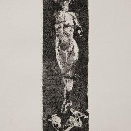 n.105 Nicola Samorì Senza titolo 2002 acquaforte PdA 28 x 9 cm
