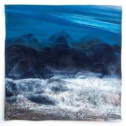 n.45 Manuela Vallicelli Prima dell'alba, 2011, pigmenti naturali in polvere su tela, cm 30x30