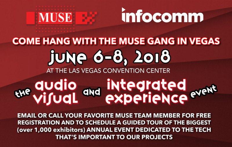 Join the Muse Gang for a guided tour of Infocomm