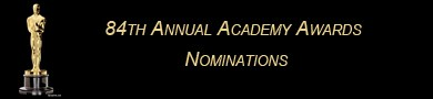 Photo of Nominations Announced For 84th Academy Awards