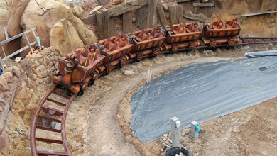 Photo of Disney Releases First Image of Testing Seven Dwarfs Mine Train Attraction