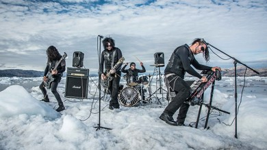 Photo of THE DEFILED Perform A Full Show On A Floating Iceberg in Kulusuk, Greenland;