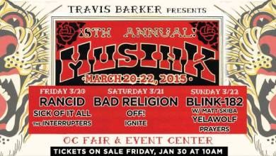 Photo of BLINK 182, RANCID, BAD RELIGION & YELAWOLF TO HEADLINE 8TH ANNUAL  MUSINK TATTOO & MUSIC FESTIVAL