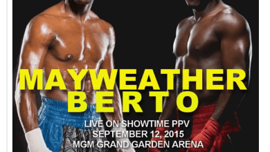 Photo of Mayweather and Berto bout set for Sept. 12 in Las Vegas