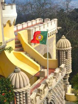 Pena Palace- Portugal Flag