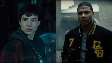 Photo of Ezra Miller and Ray Fisher Unbox Their Mattel Multiverse Action Figures