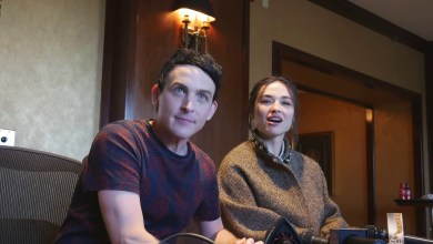 Robin Lord Taylor and Crystal Reed of Gotham