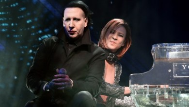 Photo of X JAPAN and Marilyn Manson rock out on stage at Coachella weekend two