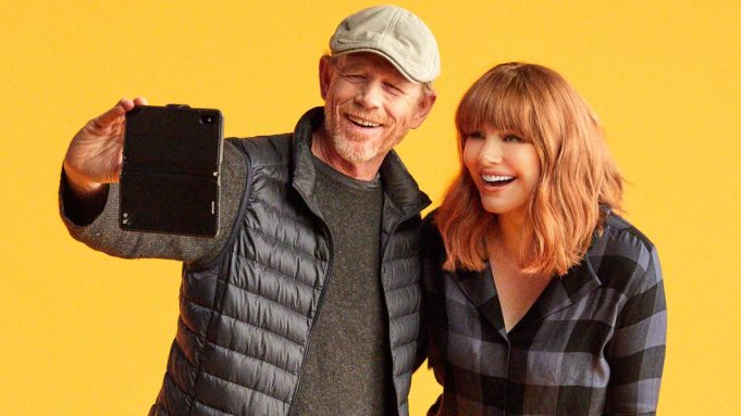 Bryce Dallas Howard with Ron Howard Dads AppleTV+