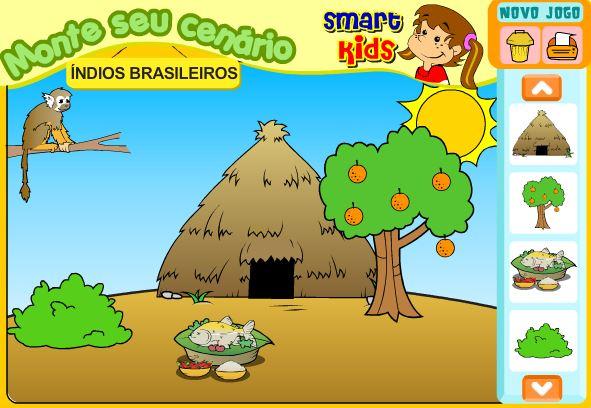 Jogo cenário índios brasileiros