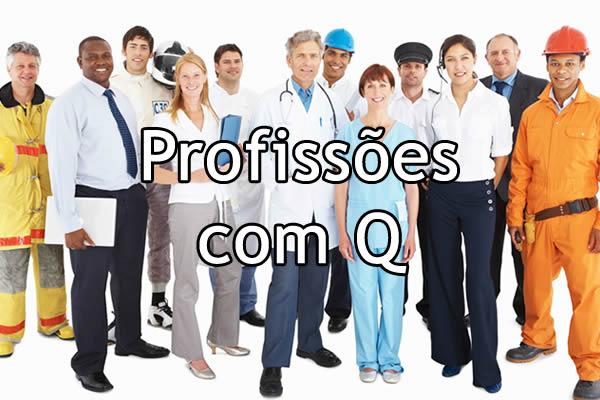 Profissões com Q