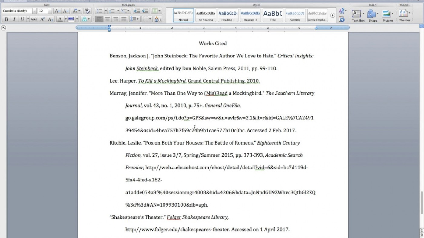 015 Mla In Text Citation For Research Paper