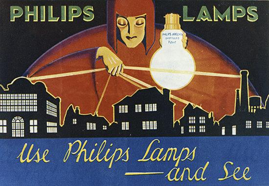 A 1920s ad for Phillip's lightbulbs