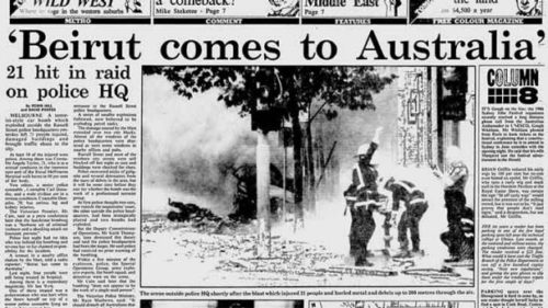 Local press report the Russell Street bombing