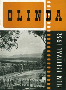 The cover of the program for the first Melbourne Film Festival, in 1952