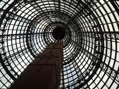 Melbourne Central's distinctive glass cone