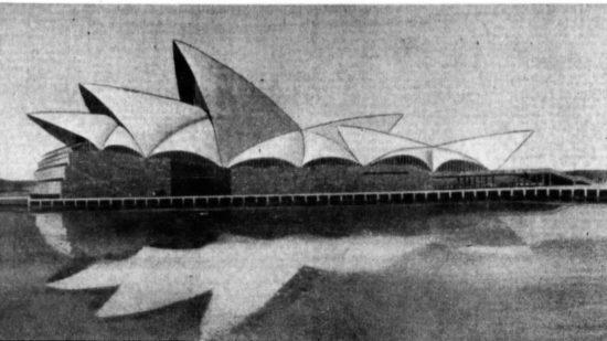 Utzon's winning design for the Sydney Opera House