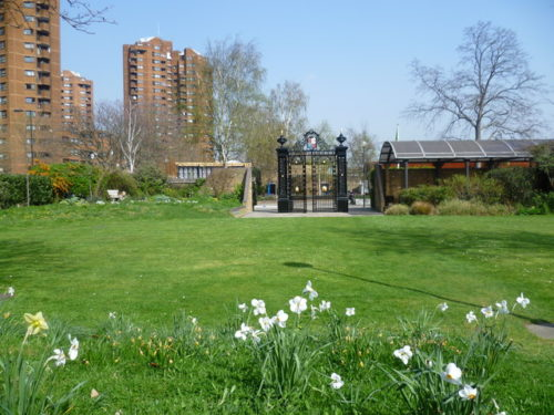 Cremorne Gardens, London, present day.