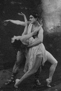 A promotional image for Pavlova's 1926 tour of Australia