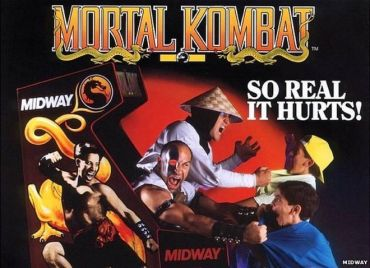 A 1990s era ad for the game 'Mortal Kombat'