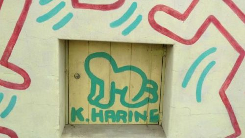 The Keith Haring mural in Collingwood: the artist's signature