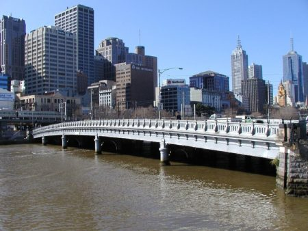 When Houdini Came to Melbourne: site of his jump into the Yarra