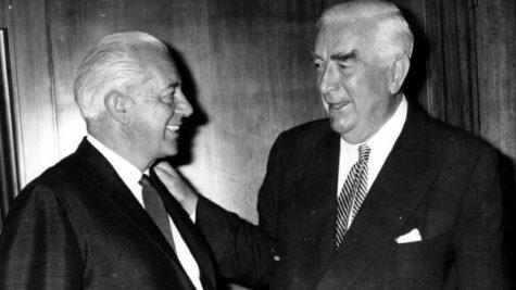 Harold Holt and Bob Menzies together