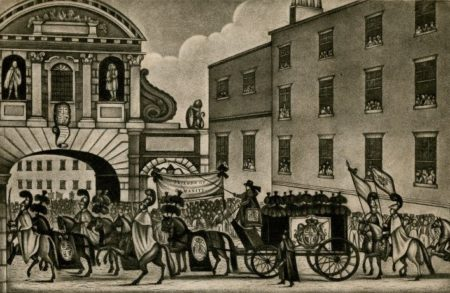 Funeral procession for Princess Caroline of Brunswick