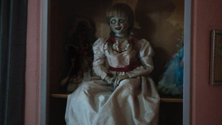The Annabelle doll from the movie franchise