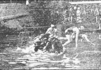 Discontinued Olympic sport: swimming obstacle race
