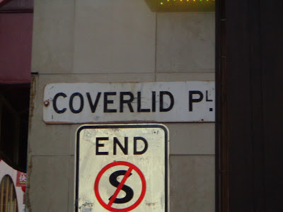 Street sign for 'Coverlid Place', Melbourne