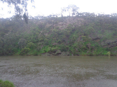 The cliffs in Yarra Bend Park, present day