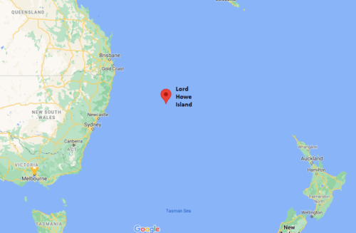 Location of Lord Howe Island