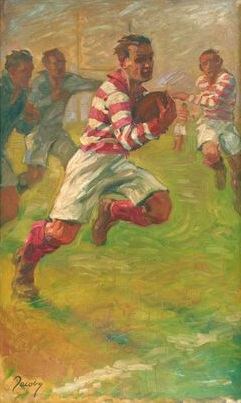 'Rugby', by Jean Jacoby, gold medal winning painting, 1928