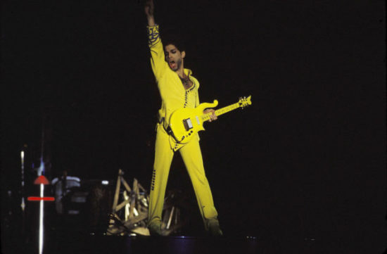 Prince on stage in Sydney, 'Diamonds and Pearls' tour