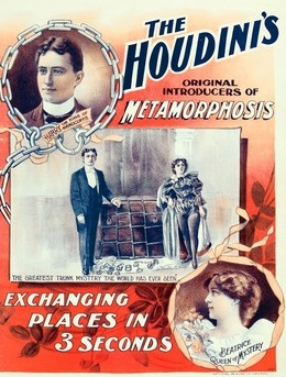 A poster for an Houdini stage show