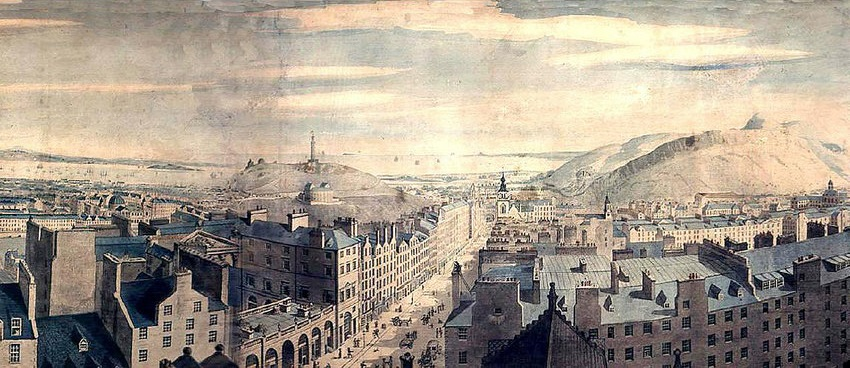 Robert Barker's panorama of Edinburgh, 1792
