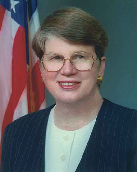 A picture of former US Attorney General Janet Reno