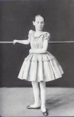 Anna Pavlova as a child