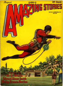 The first jetpack story in Amazing Stories